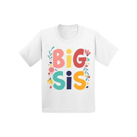 Awkward Styles Lovely T Shirts for Girls Big Sister Youth Shirt for Girls Floral Clothing Big Sister Collection Funny Gifts for Girls I'm Big Sister Shirt Sis Tshirt for Kids Birthday Gifts for (Birthday Wishes To My Lovely Sister In Law)