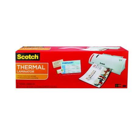 Laminated Tape Thermal Cartridge - Scotch Thermal Laminator plus 2 Letter Size Pouches (TL902)