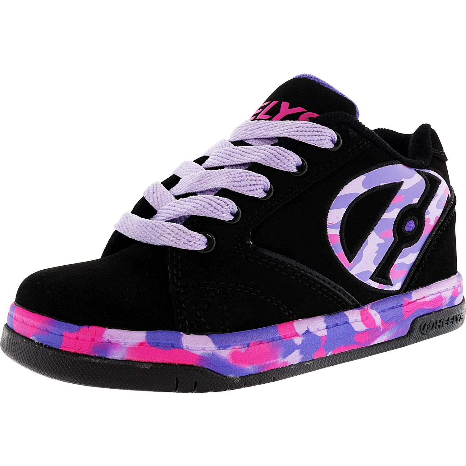Heelys Propel 2.0 Black / Lilac Pink Confetti Ankle-High Skateboarding Shoe - 2M