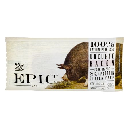 EPIC Bar Uncured Bacon Pork - Maple, 1.5 OZ