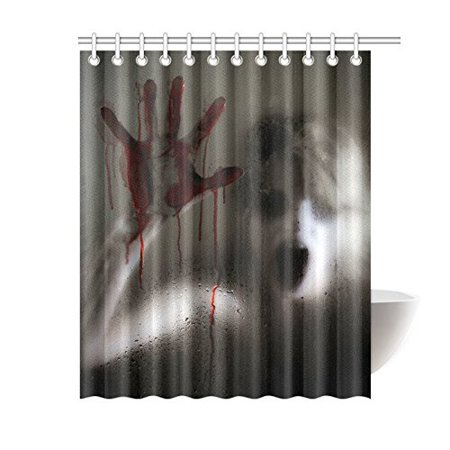 MKHERT Horror Scene of a Woman with Bloody Hand Waterproof Shower Curtain Decor Halloween Theme Fabric Bathroom Set 60x72 inch](Halloween Bathroom Decor Ideas)