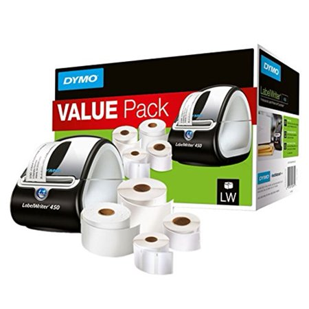 DYMO LabelWriter 450 Label Printer Bundle with Labels for PC and Mac