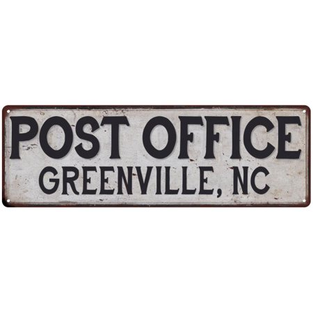 Greenville, Nc Post Office Personalized Metal Sign Vintage 8x24 108240011339 - Halloween Stores Greenville Nc