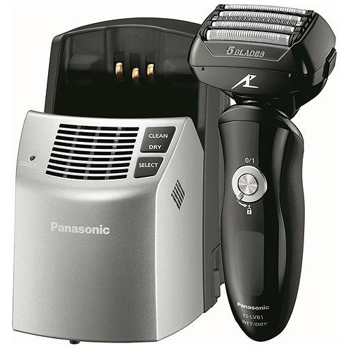 Panasonic Arc5 Wet/Dry Men's Electric Shaver with Clean & Charge System, ES-LV81-K