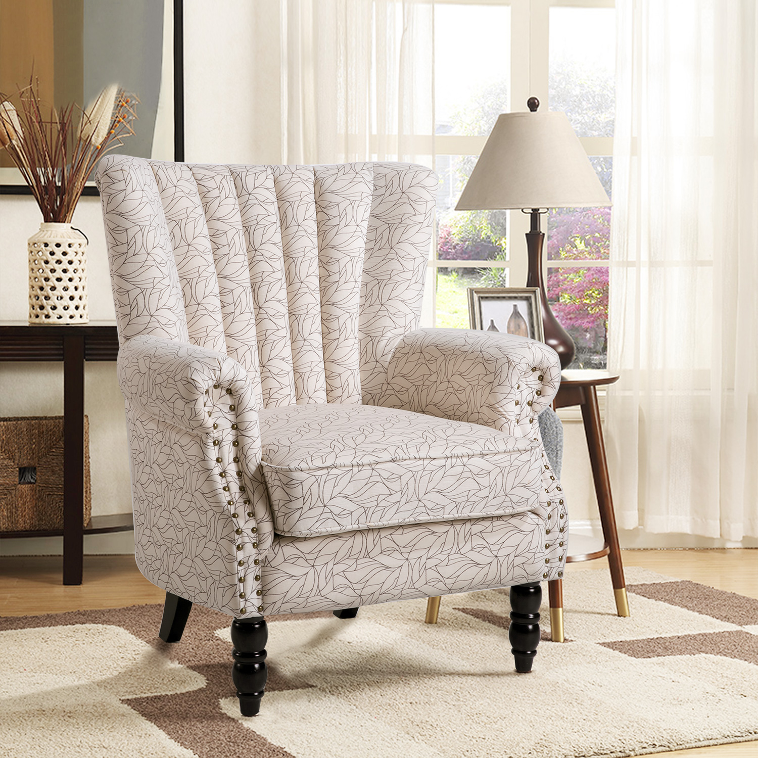Harper&Bright Designs Rolled Arm Upholstered Accent Chair Armchair, Multiple Colors