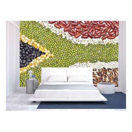 wall26 Africa Flag Food on White Background Removable Wall Mural Self