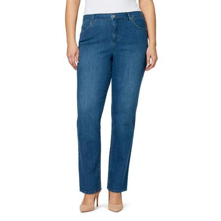 Gloria Vanderbilt Women's Plus Size Amanda 5 Pocket Jeans Womens 5 Pocket Hipster Jean