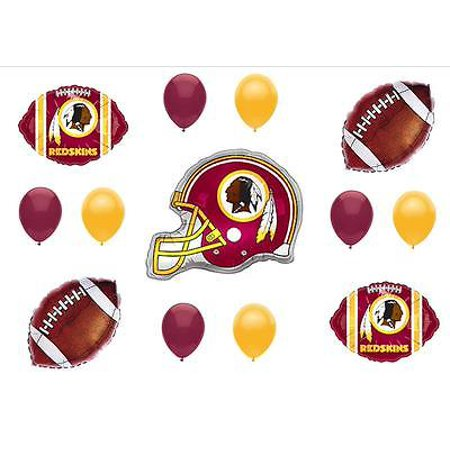 WASHINGTON REDSKINS  BIRTHDAY PARTY BALLOONS Decorations Supplies Game Helmet