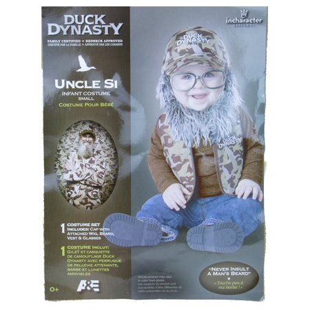 In Character Costumes Uncle Si Duck Dynasty Costume - 0-6 Months - Simple Book Character Costumes
