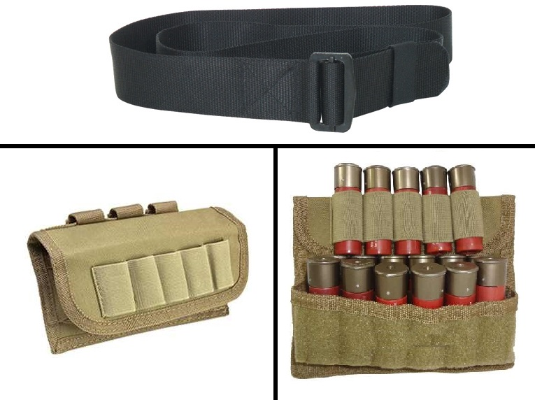 Ultimate Arms Gear 2 Pack Of Tactical Desert Tan 17 Shot Shell Ammunition Ammo Reload Carrier Pouch MOLLE, PALS & Belt... by