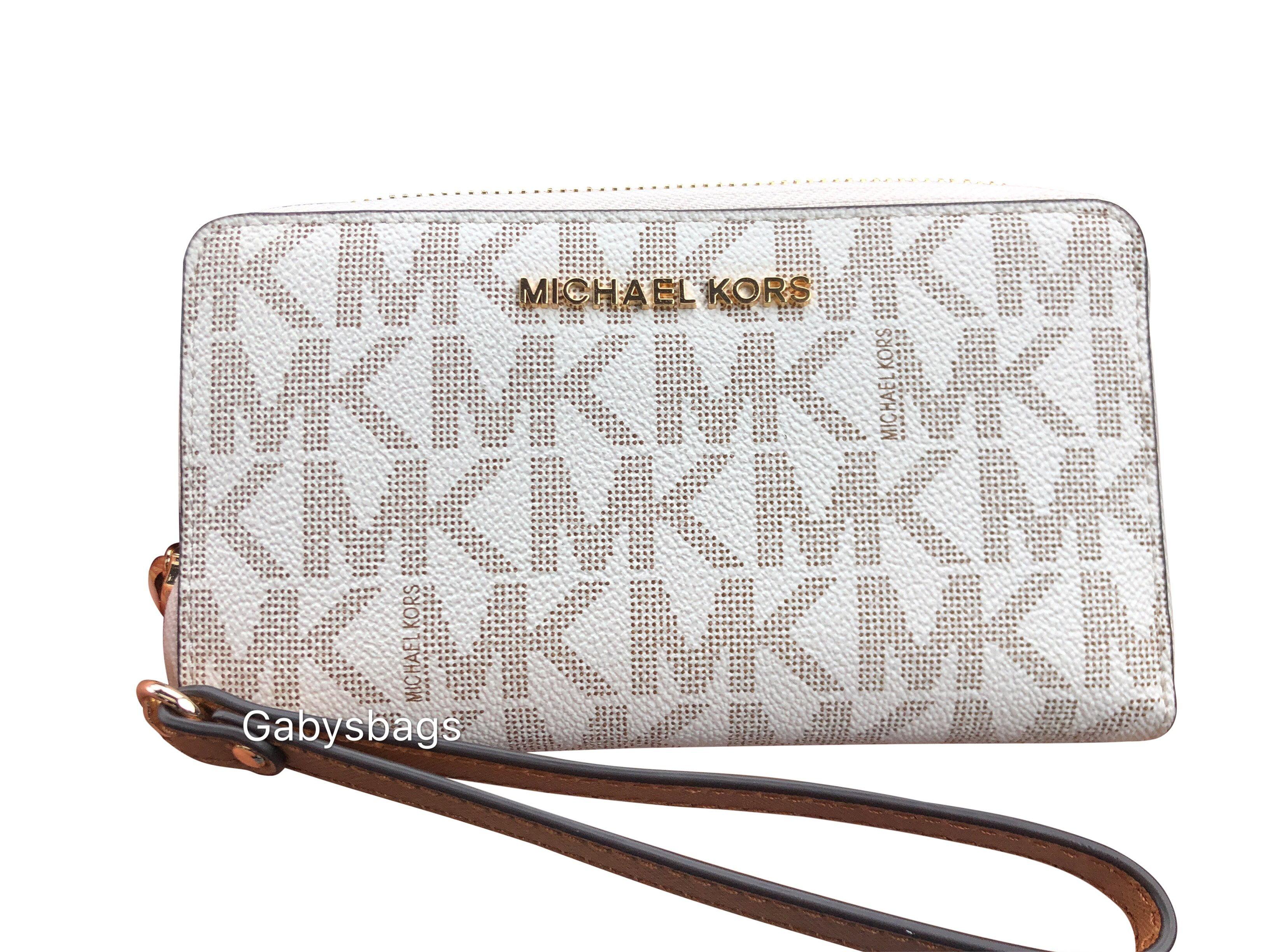 michael kors michael kors jet set phone wristlet wallet vanilla mk rh walmart com