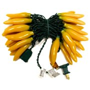"""Sival 62322 - 35 Light 13.5"""" Green Wire Yellow Chili Pepper String"""