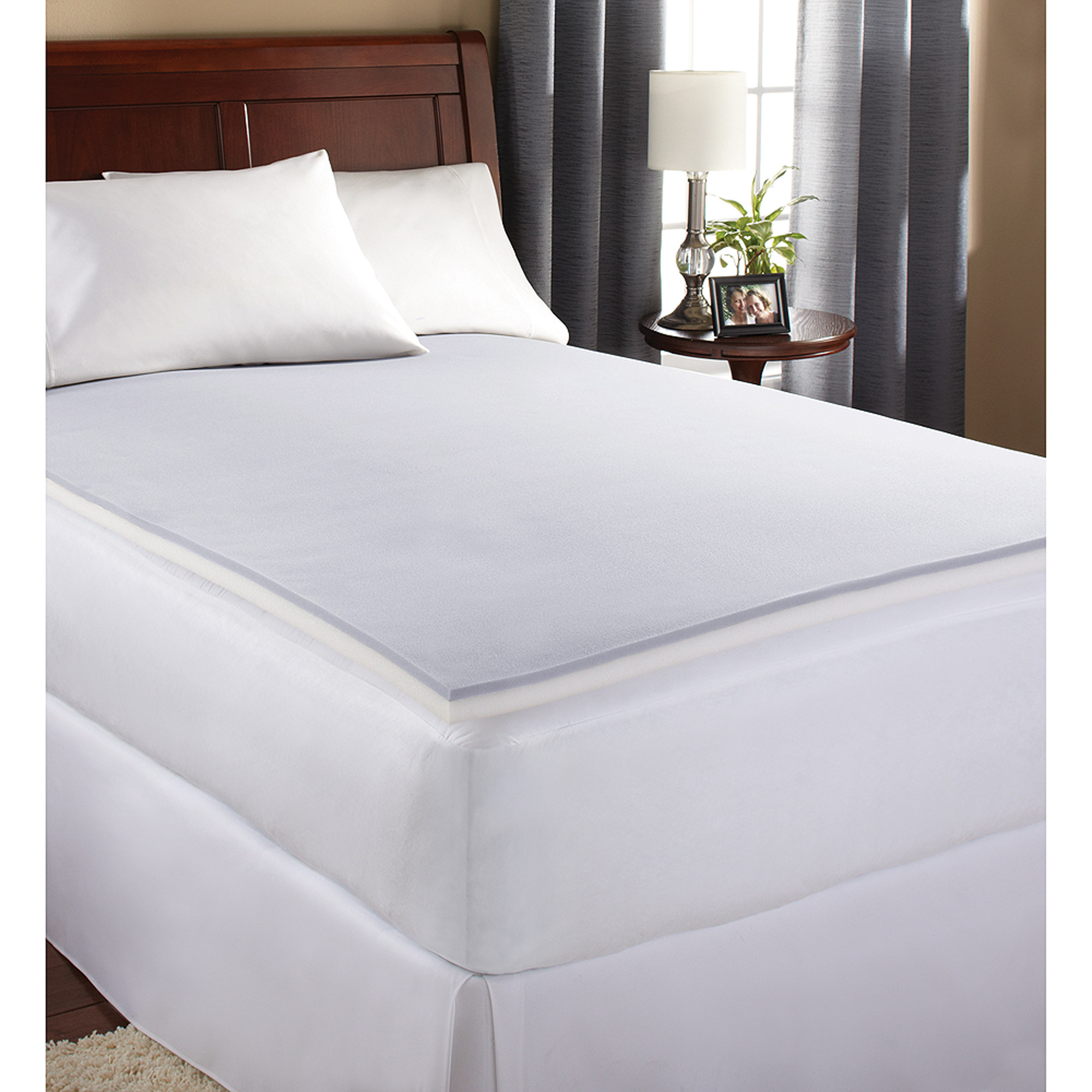 Mainstays 1 5 Memory Foam Mattress Topper Twin Xl Walmart Com