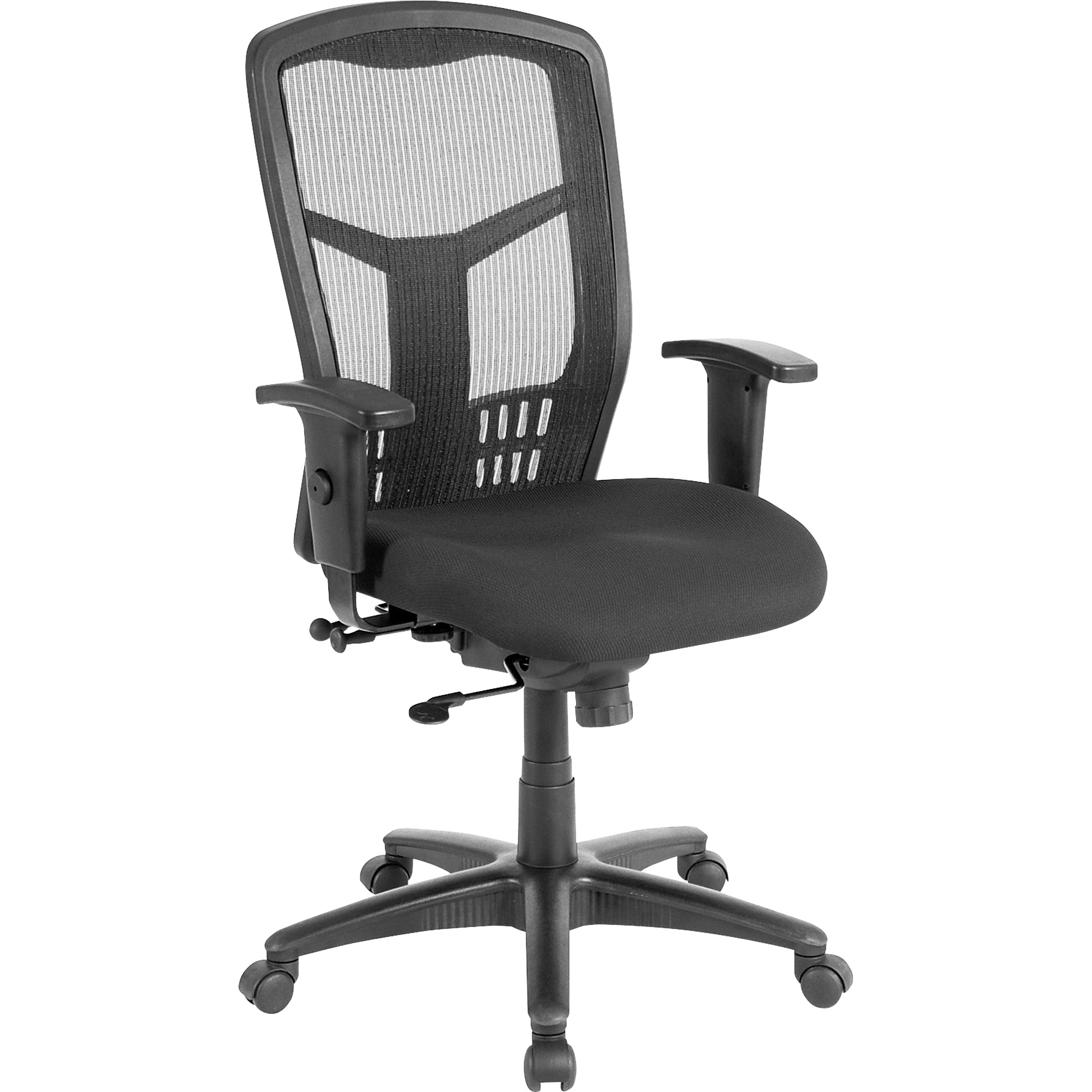 Lorell Executive High-back Swivel Chair, Black