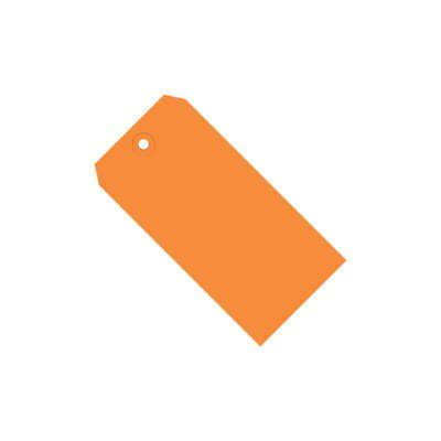 Orange 13 Pt. Shipping Tags SHPG11021H 3 1/4  x 1 5/8  Orange 13 Pt. Shipping Tags. Colored tags aide in coding shipments and inventory. Tags feature a 3/16 , reinforced, tear resistant eyelet.  Tags may be attached with string or wire.  Pre-cut, 12 , unpolished cotton tag string available stock number G2501.  Pre-cut, 12 , 26 gauge tag wire available stock number G2500.  Available in case quantities. 1000/Case.