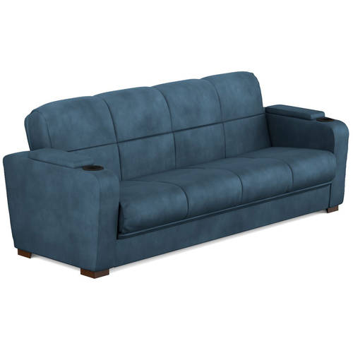 Mainstays Tyler Futon with Storage Sofa Sleeper Bed, Multiple Colors