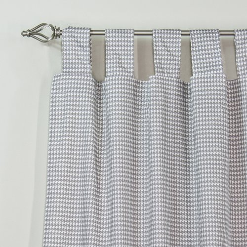 Brite Ideas Living Houndstooth Storm Single Curtain Panel