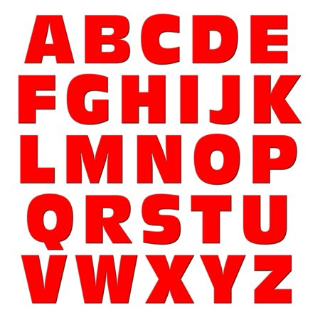 Alphabet Letters Uppercase Red MAG-NEATO'S(TM) Refrigerator Magnet - Red Refrigerator Magnet
