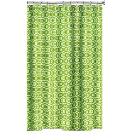 Nicole Lime Green Shower Curtain