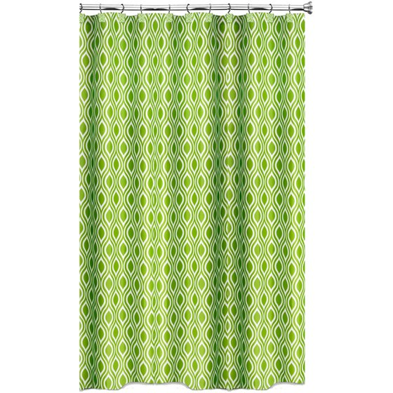 Lime Green Kitchen Curtains: Nicole Lime Green Shower Curtain