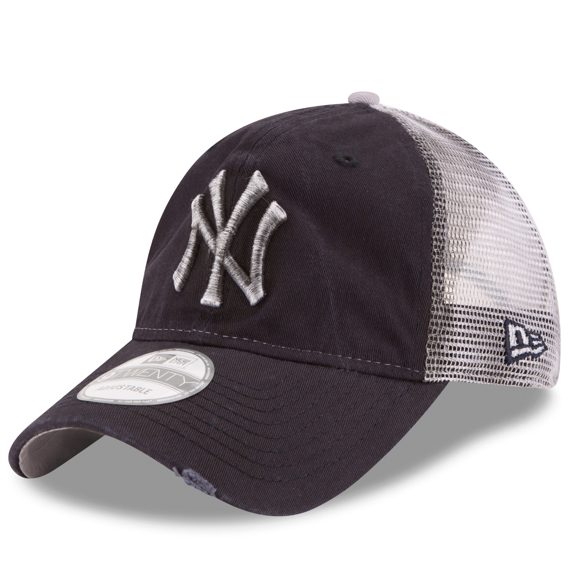 67c3b57dde7 New York Yankees New Era Team Rustic Trucker 9TWENTY Adjustable Hat - Navy  - OSFA - Walmart.com