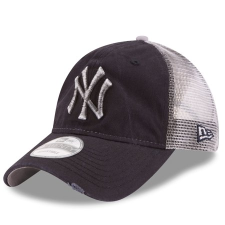 65cacf9e09f07 New York Yankees New Era Team Rustic Trucker 9TWENTY Adjustable Hat - Navy  - OSFA - Walmart.com