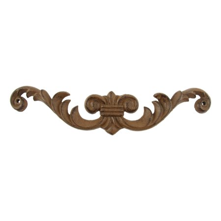 Cast iron metal scroll picture art topper wall grill old for Iron scroll wall art