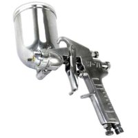 GHP Home Automotive Tool 400cc Gravity Feed Swivel Cup HVLP Touch Up Spray Gun