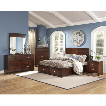 Kirkwood 4 piece cal king storage bedroom set in burnished - California king storage bedroom sets ...