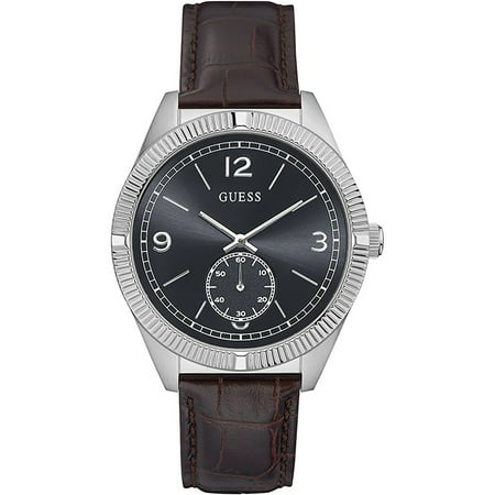 W0873G1,Men's Dress,Stainless Steel Case,Lether strap,Silver Tone,Dark Dial,WR