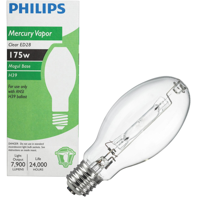 GE LIGHTING HR400A33 Mercury Vapor Bulb,ED37,21,000 lm,400W