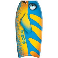 "Water Buddies 36"" Blue Fish Body Board, Leash Included"
