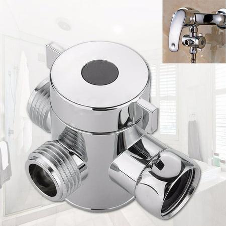 1/2 Inch Three Way T-adapter Valve For Toilet Bidet Shower Head Diverter - 3 Way Showerhead