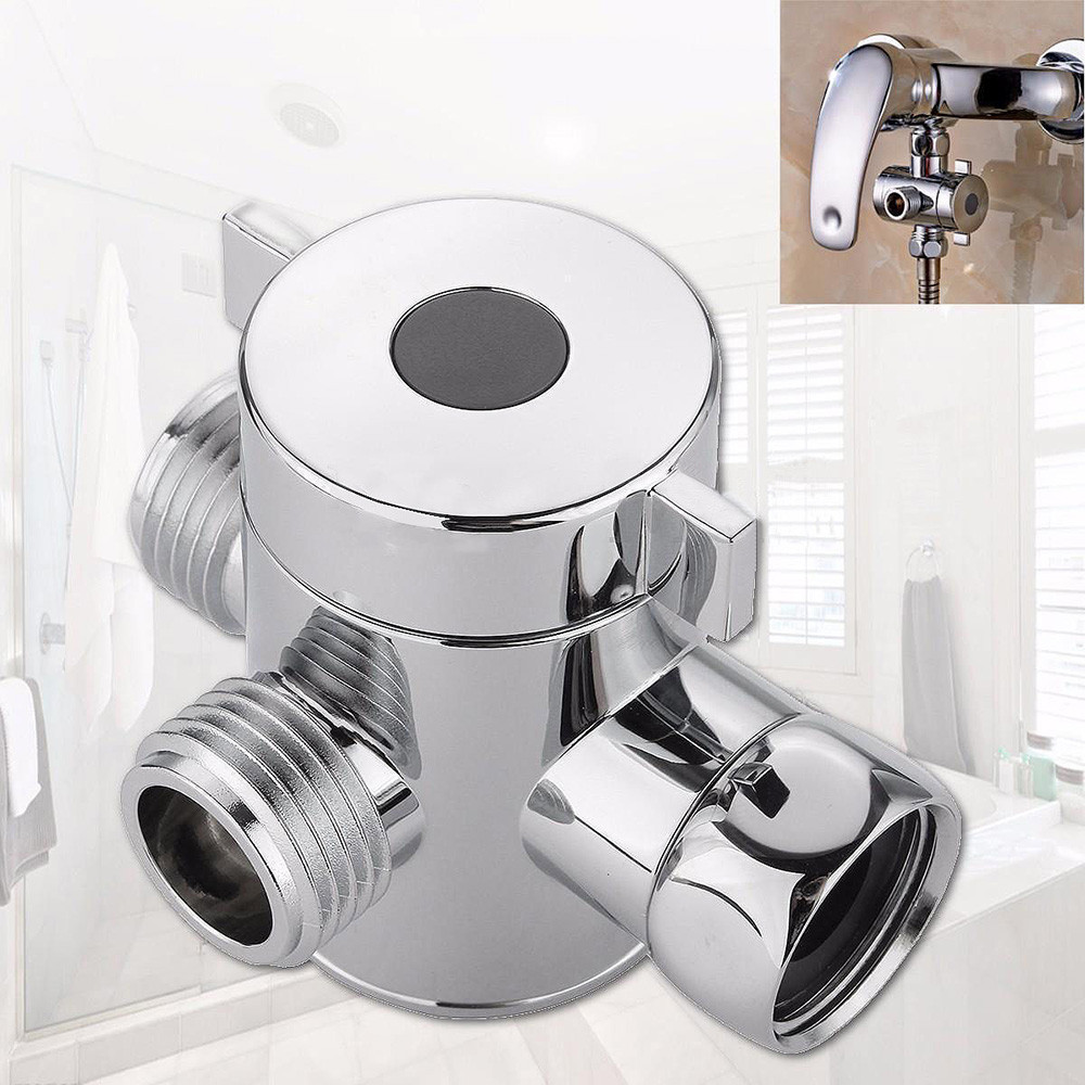 1/2 Inch Three Way T Adapter Valve For Toilet Bidet Shower Head Diverter