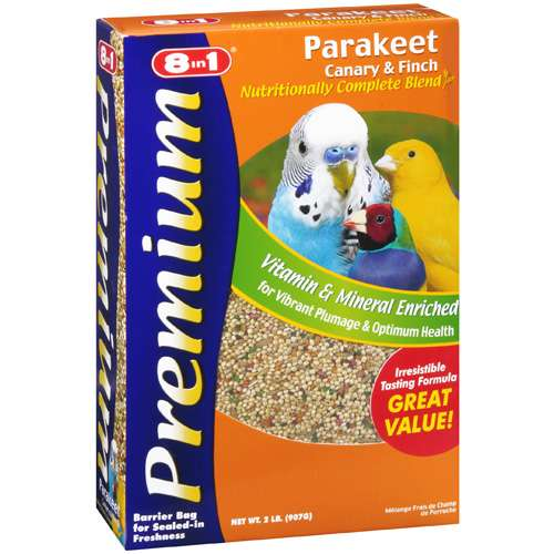 8-in-1 Pet Products: Bird Food Premium Parakeet, Canary, Finch Food, 2 Lb