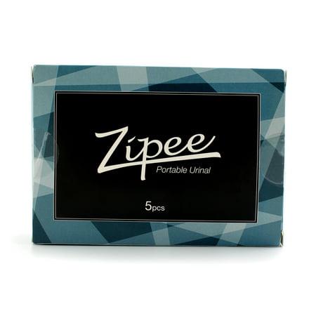 Zipee Portable Urinal Bag Mini Toilet Unisex Disposable Quick Absorbent 600ml 5p