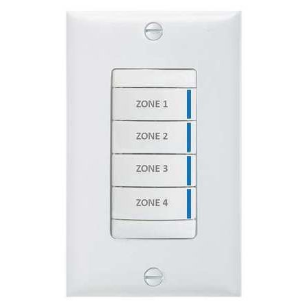 LITHONIA LIGHTING BR4 BWH PWH Digital Wall Switch,Wall,White Bwh Light Control