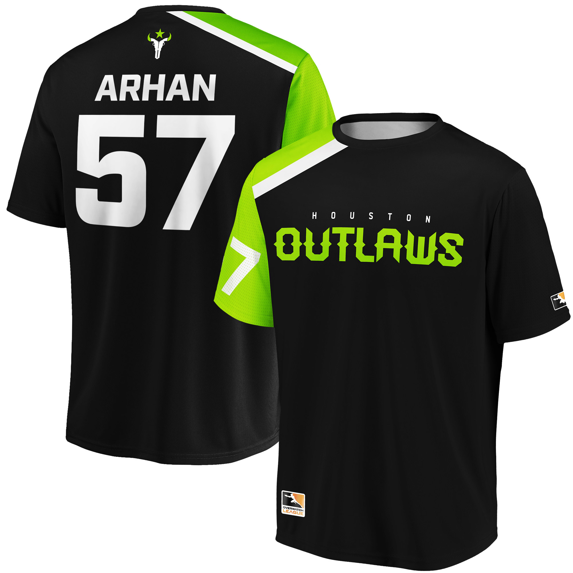 ArHaN Houston Outlaws Overwatch League Replica Home Jersey - Black