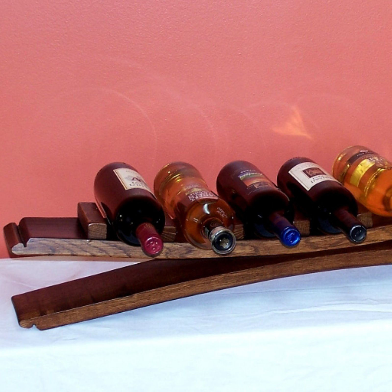 2 Day Designs Reclaimed Wine2Night 7 Bottle Stave Wine Bottle Display