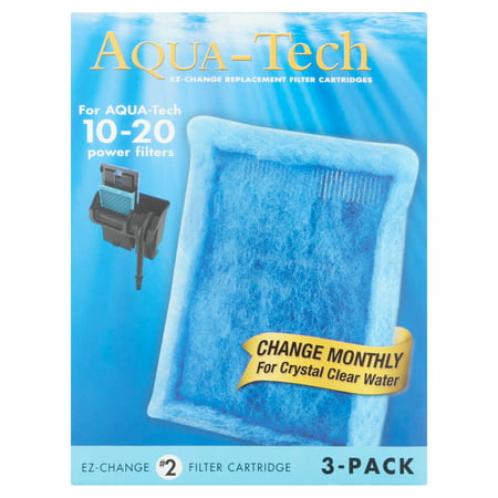 Aqua-Tech EZ-Change Aquarium Filter Cartridge for 10-20G Filters, 3pk