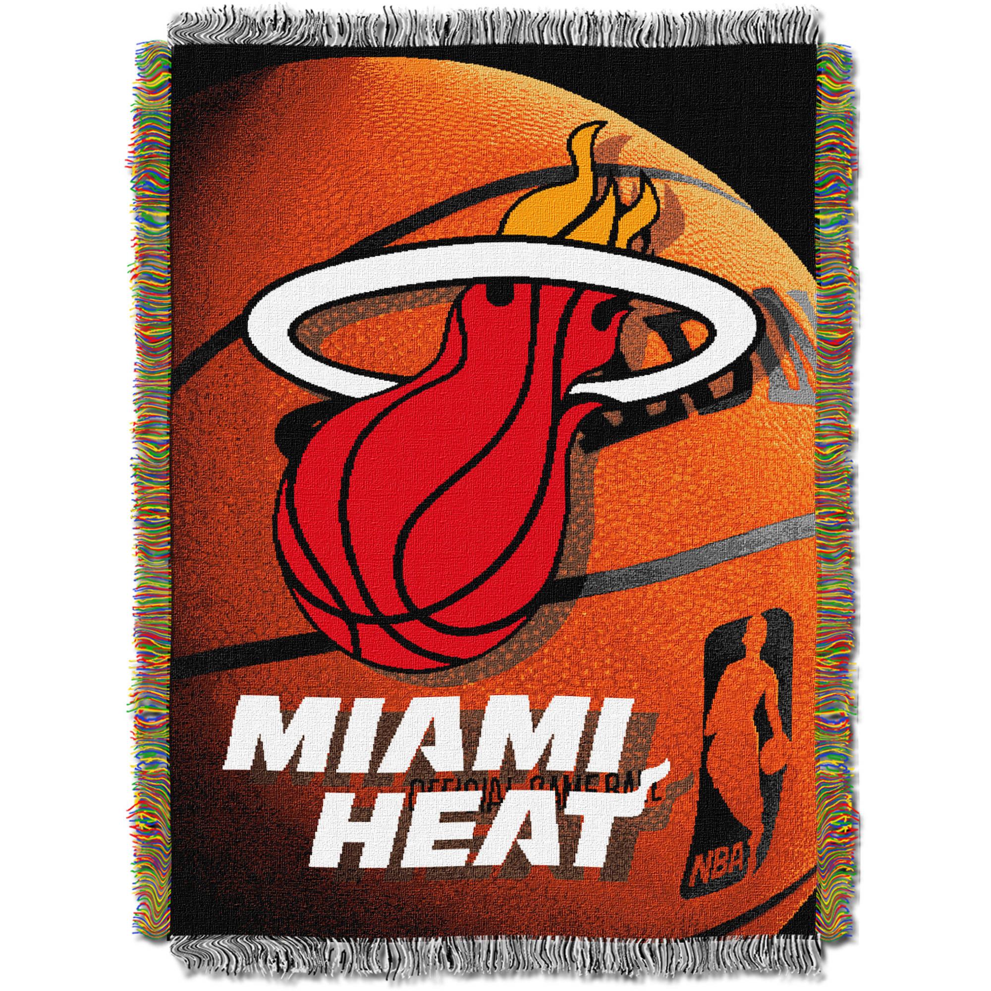 "NBA 48"" x 60"" Photo Real Series Tapestry Throw, Heat"