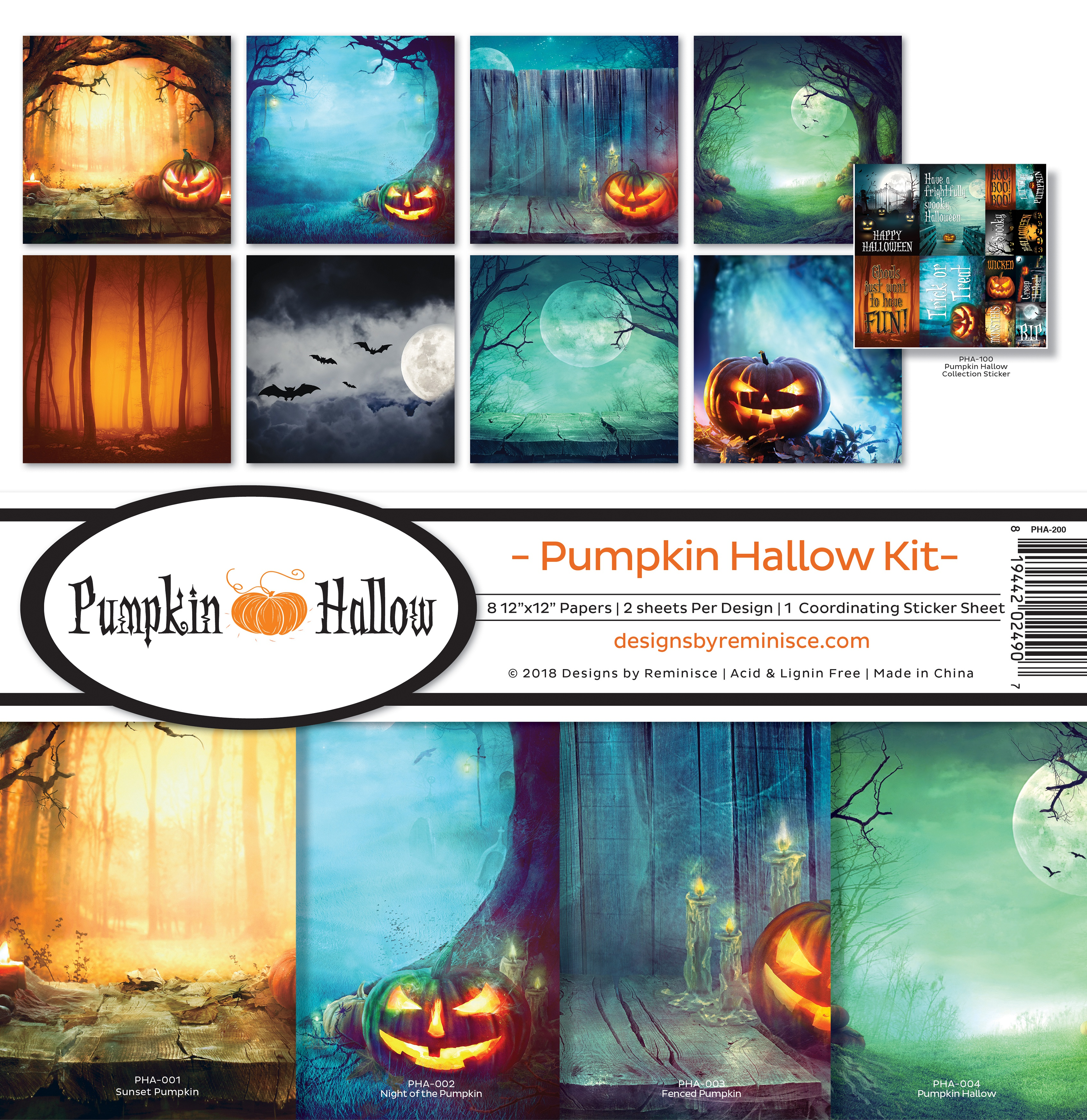 "Reminisce Collection Kit 12""X12""-Pumpkin Hallow"