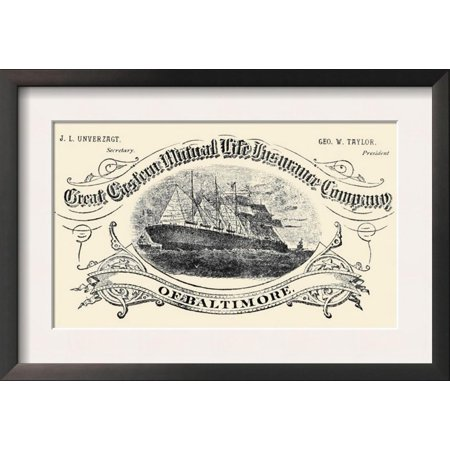 Great Eastern Mutual Life Insurance Company of Baltimore Framed Art Print Wall (North Carolina Mutual Life Insurance Company Reviews)