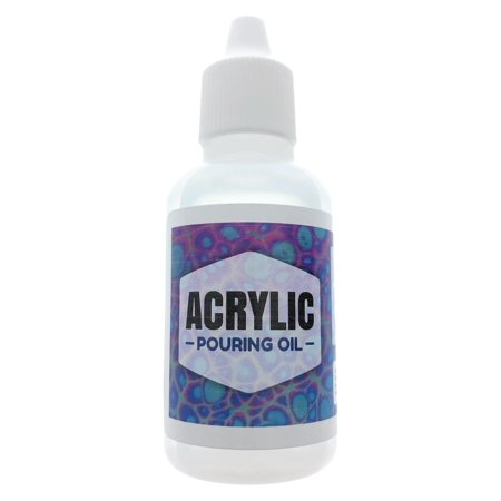 Acrylic Pouring Oil - 100% Silicone Lubricant for Cell Creation in Acrylic Paint, 1oz Drip Tip by Essential Values