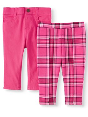 Garanimals Baby Girls French Terry & Twill Pants, 2pk