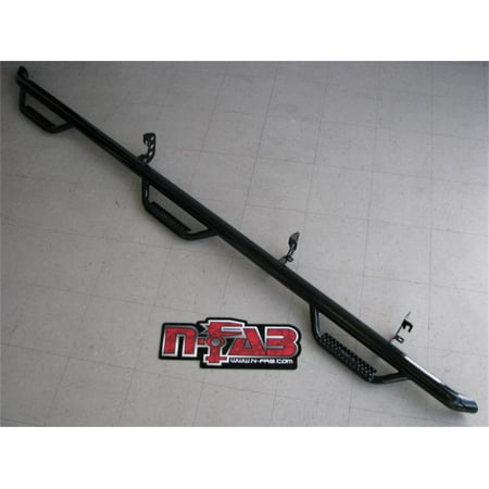 N Fab Nerf Steps - N-Fab Nerf Step 10-17 Dodge Ram 2500/3500 Crew Cab 8ft Bed - Gloss Black - Bed Access - 3in