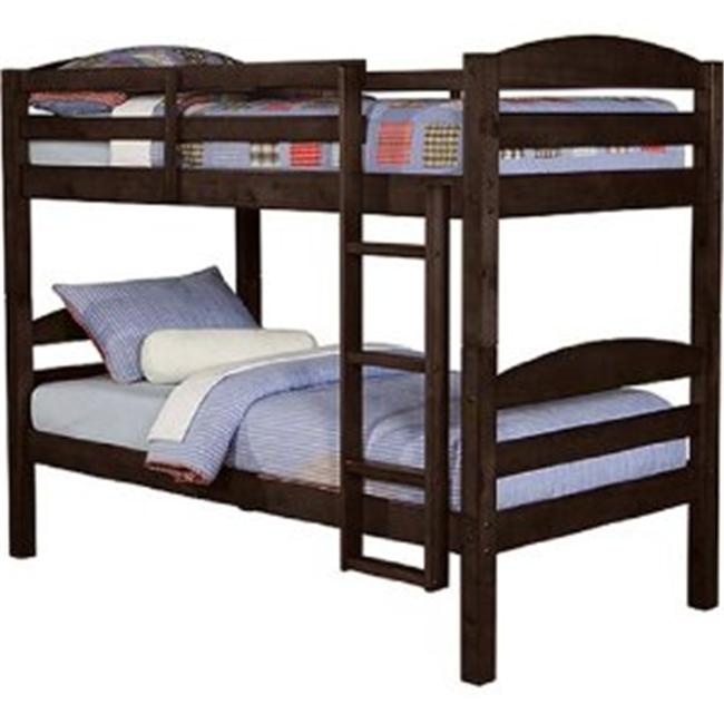 Twin / Twin Solid Wood Bunk Bed - Espresso