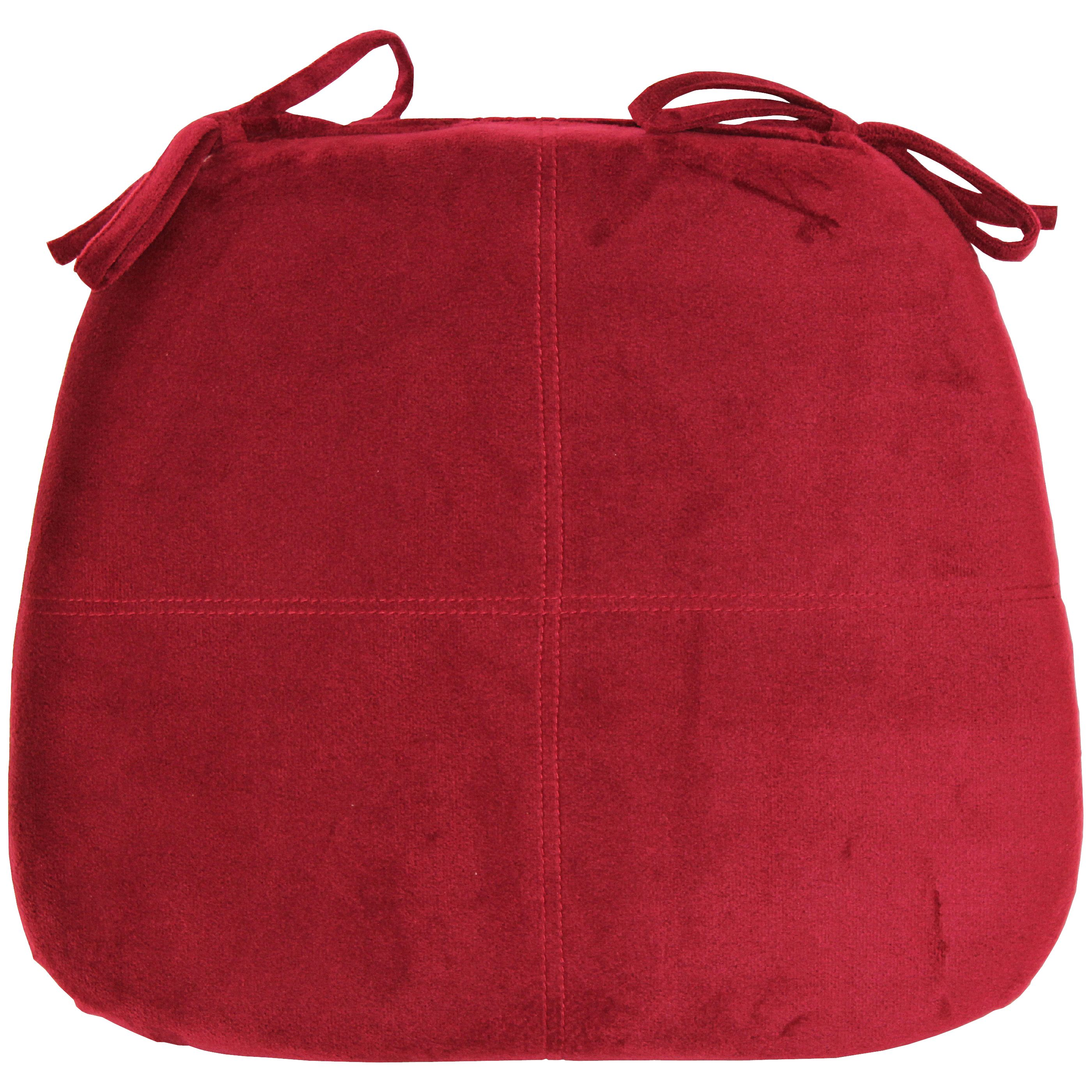 Better Homes and Gardens Memory Foam Chair Pad Red by Brentwood