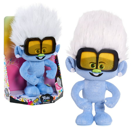 DreamWorks TrollsTopia Tiny Diamond Dancer, Lights and Sounds Musical Plush, By Just Play