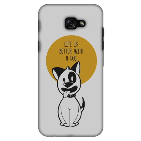 Samsung Galaxy A7 2017 Case, Premium Handcrafted Designer Hard Shell Snap On Case Printed Back Cover with Screen Cleaning Kit for Samsung Galaxy A7 2017, Slim, Protective - Life Is Better With A Dog](Galaxy Life Halloween 2017)